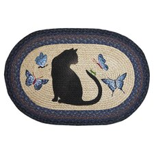 Cat and Grasshopper Novelty Rug