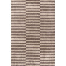 Marled Ladder Graphic Brown Area Rug