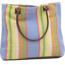 <strong>Dash and Albert Rugs</strong> Nantucket Woven Cotton Tote Bag