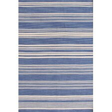 Cottage Stripe French Blue Wool Rug