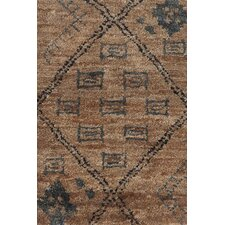 Zuni Geometric Brown Area Rug