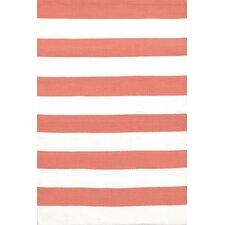 Catamaran Red / White Striped Indoor / Outdoor Area Rug