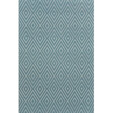 Woven Diamond Slate/Light Blue Rug