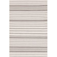Indoor/Outdoor Beckham Platinum Striped Rug