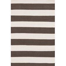 Indoor/Outdoor ICatamaran Brown/Cream Striped Outdoor Area Rug