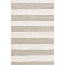 Catamaran Ivory/Taupe Striped Indoor/Outdoor Area Rug