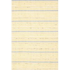 Woven Cotton Fine Rag Yellow Rug