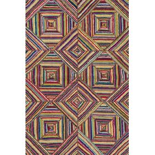 Cotton Micro-Hooked Kaledo Primary Area Rug