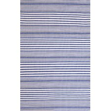 Indoor/Outdoor Rugby Denim Striped Rug