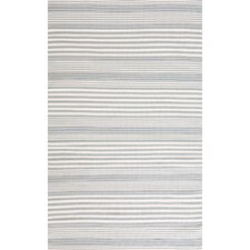 RugbyIndoor/Outdoor Light Blue Striped Rug