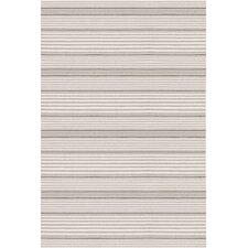 Indoor/Outdoor Rugby Platinum Striped Rug