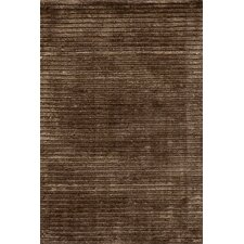 Cut Stripe Brown Rug