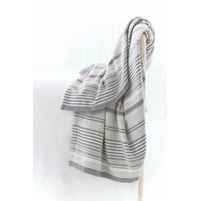 Gradation Ticking Cotton Throw