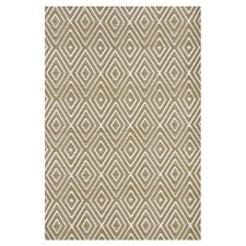 <strong>Dash and Albert Rugs</strong> Woven Diamond Khaki/White Rug
