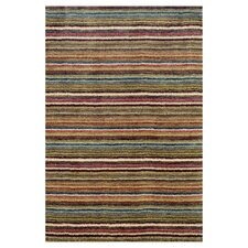 Tufted Brindle Stripe Spice Area Rug