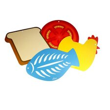 4 Piece Flexible Chopping Board Set