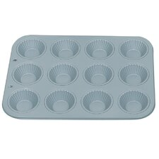 Non-Stick 12 Cup Ribbed Tart Pan