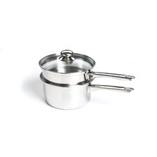 2-qt. Stainless Steel Double Boiler with Lid