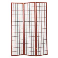"<strong>Hazelwood Home</strong> 70"" x 53"" Sonji Screen 3 Panel Room Divider"