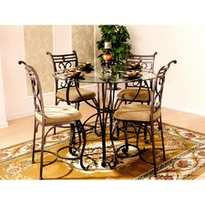 <strong>Hazelwood Home</strong> Excalibur 5 Piece Counter Height Dinette Set