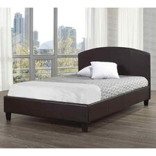 Faux Leather Panel Bed