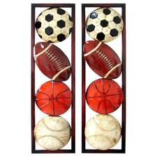 2 Piece Sports Motif 3D Wall Décor Set