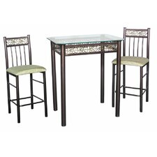 "<strong>Hazelwood Home</strong> 3 Piece 36.5"" Pub Table Set"