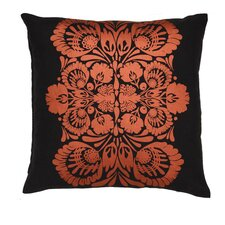 <strong>Kreme LLC</strong> Screen Print Folk Flower Pillow