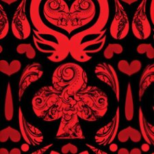 California Cards Damask Wallpaper