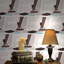 <strong>Kreme LLC</strong> California Equestrian Geometric Wildlife Wallpaper