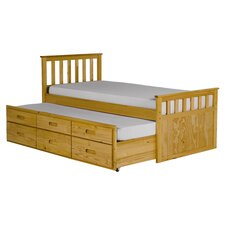 Pajama Single Bed Frame with Trundle bed and Underbed Storage