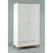 Chicago Two Door Wardrobe with Drawer in White
