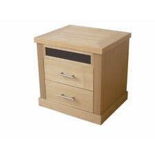 Chelsea 2 Drawer Bedside Table in Oak