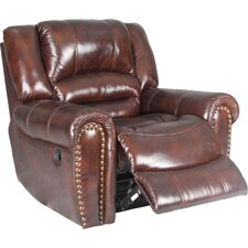 Motion Neptune Leather  Chaise Recliner