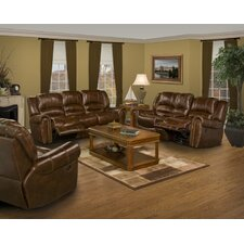 Motion Neptune Leather Dual Recliner Living Room Collection
