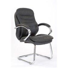 Medium Back Visitor Chair with Chrome Armrest