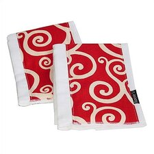 <strong>Reese Li</strong> Crimson Craze Burp Cloth Set