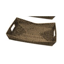 Rattan Rectangular Flare Serving Tray
