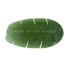 <strong>Front Of The House</strong> Banana Leaf Table Runner