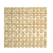 "<strong>Front Of The House</strong> Metroweave 13"" X 14"" Large Basketweave Placemat in Natural (Set of 6)"