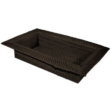 Rattan Wide Rim Serving Tray