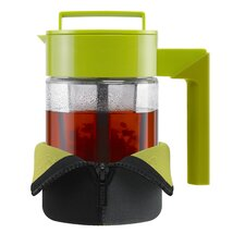 24 Oz Tea Maker with Jacket and Handle in Olive