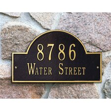Arch Marker Standard Address Plaque