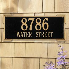 <strong>Whitehall Products</strong> Roanoke Estate Address Plaque