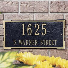 Roanoke Standard Address Plaque