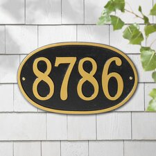 Oval Address Plaque