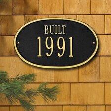 Date 'Built' Standard Plaque