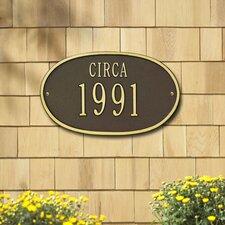 Date 'Circa' Standard Plaque