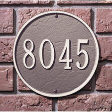 Round Address Plaque