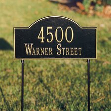 Arch Marker Two-Sided Standard Address Sign